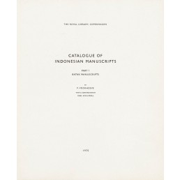 Catalogue of Indonesian Manuscripts - Part 1. Batak manuscripts